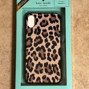 NWT RARE Kate Spade Leopard iPhone X Case